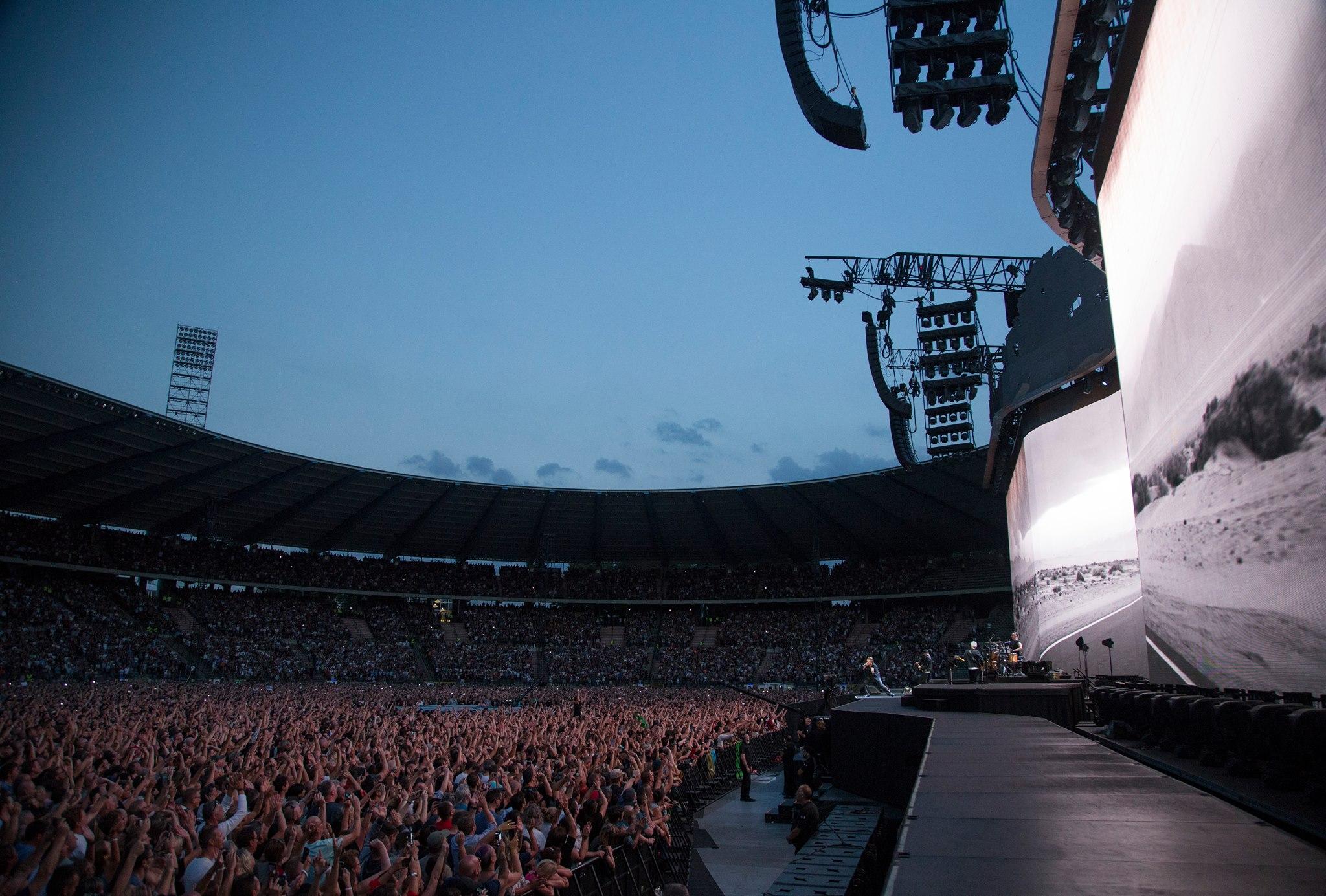 Concert U2 stade Roi Baudouin 2017